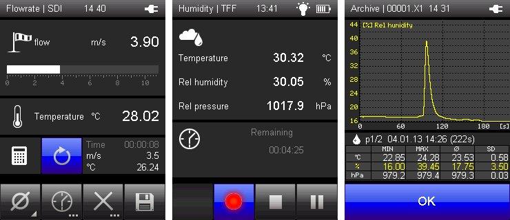 Messtechnik  XA 1000 EN Display Lufft XA1000 handheld device
