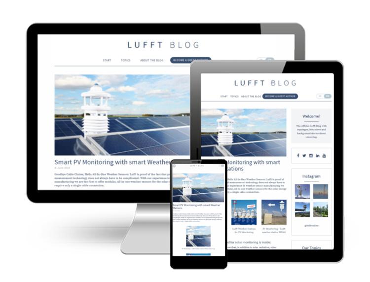 Neues Lufft Blog Seitendesign auf PC, Tablet und Smartphone