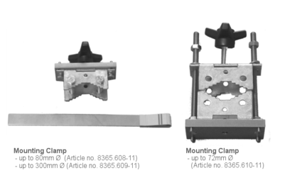 Mounting clamp, steel with different diameters for snow depth sensor SHM30